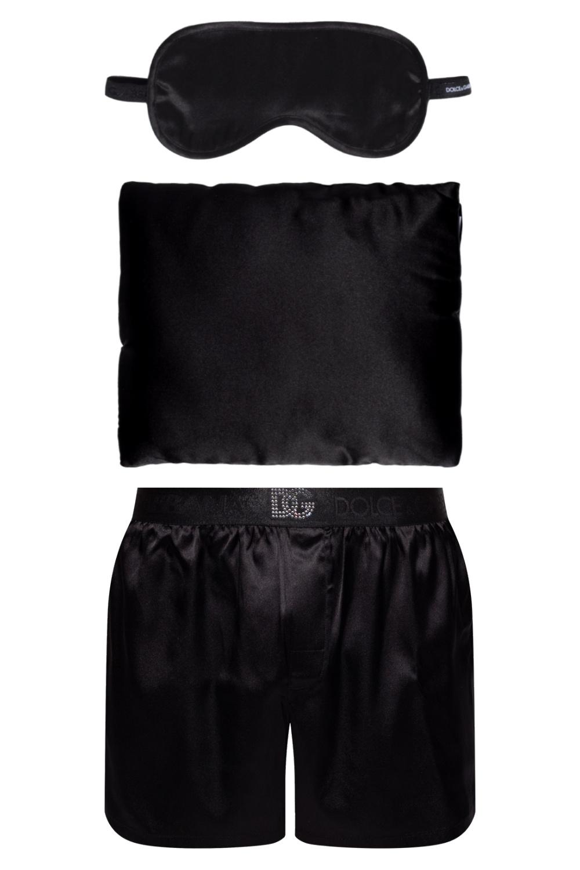 Dolce & Gabbana Pillow, blindfold and pyjama bottoms