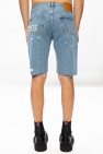 Vetements Raw edge denim shorts