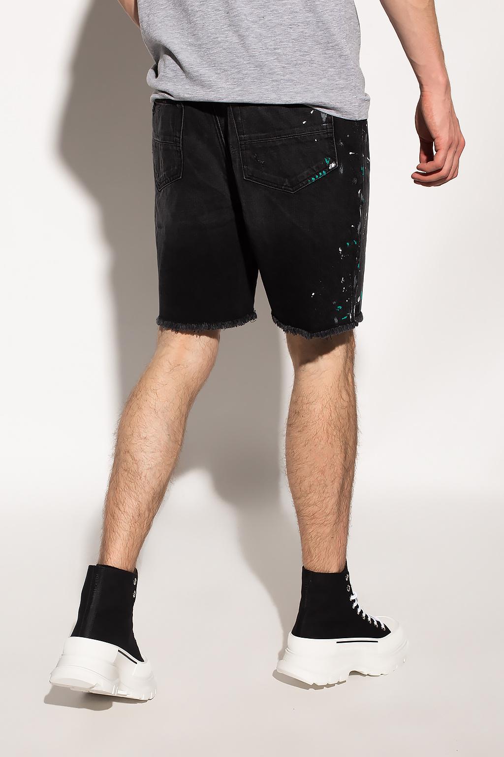 Amiri Raw-trimmed denim shorts