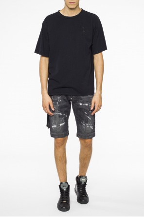 Distressed side-stripe shorts od Philipp Plein