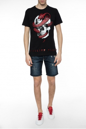 'gotham' denim shorts od Philipp Plein