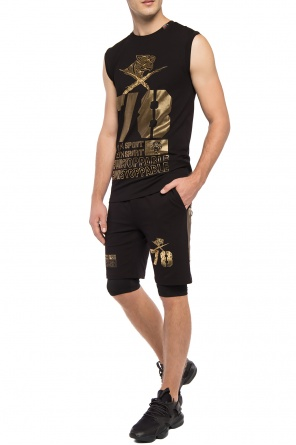 Double-layered shorts with tiger od Plein Sport