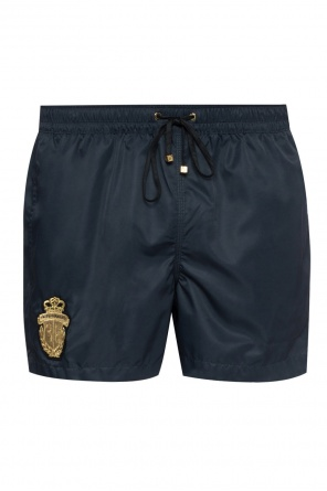 Logo-patched swim shorts od Billionaire