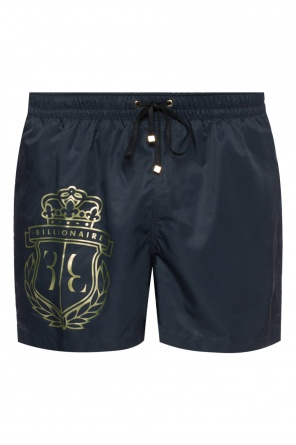 Logo-printed swim shorts od Billionaire