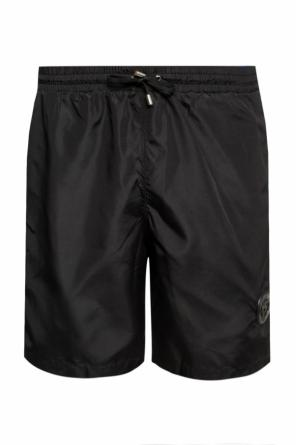 Branded swim shorts with tiger head motif od Plein Sport