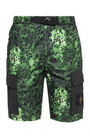 Patterned shorts with logo od Stone Island
