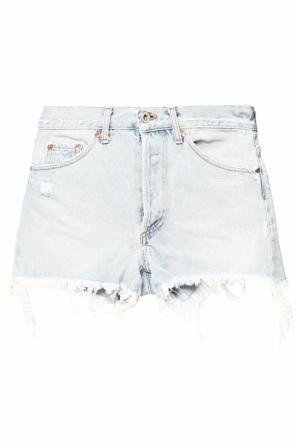 Printed denim shorts od Off White