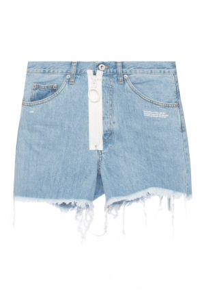 Denim shorts with decorative zip od Off White
