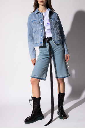Raw-edge denim shorts od Off-White