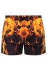 Neil Barrett Swim shorts with flame print
