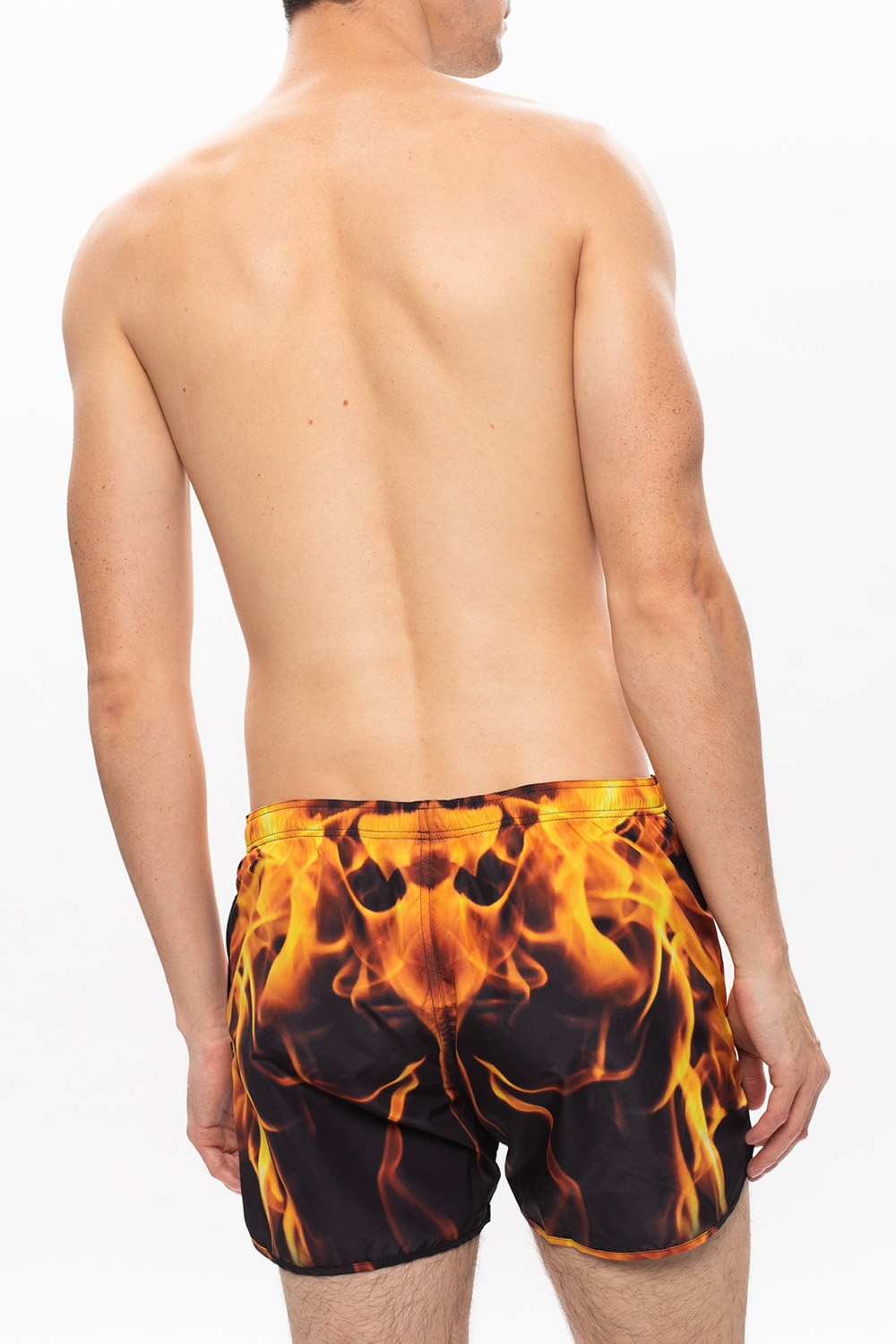 Neil Barrett Swim shorts with flame print