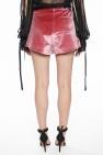 Self Portrait High-waisted velvet shorts