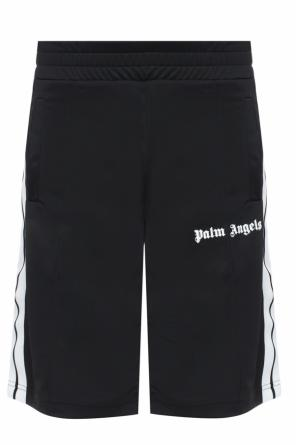 Shorts with velvet logo od Palm Angels