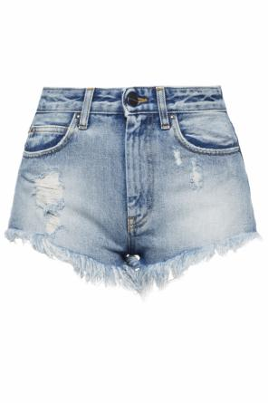 Denim shorts with holes od Palm Angels