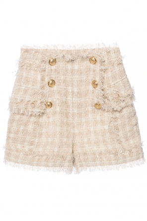 Shorts with decorative buttons od Balmain
