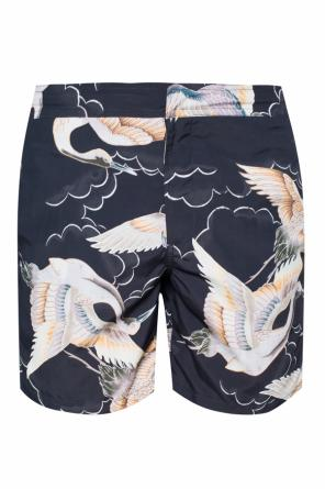 'romaji' printed swimming shorts od AllSaints