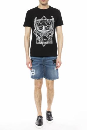Distressed denim shorts od Just Cavalli