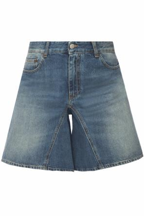 Distressed denim shorts od MM6 Maison Margiela