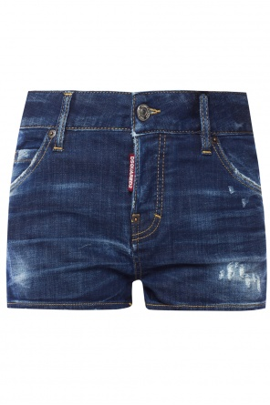 Distressed denim shorts od Dsquared2