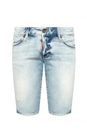 Raw edge denim shorts od Dsquared2