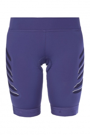 Shorts with sheer inserts od Adidas by Stella McCartney