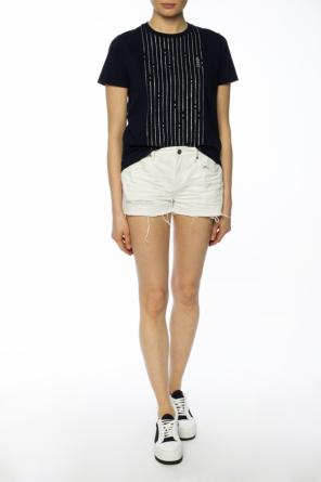 'serene' denim shorts with holes od AllSaints