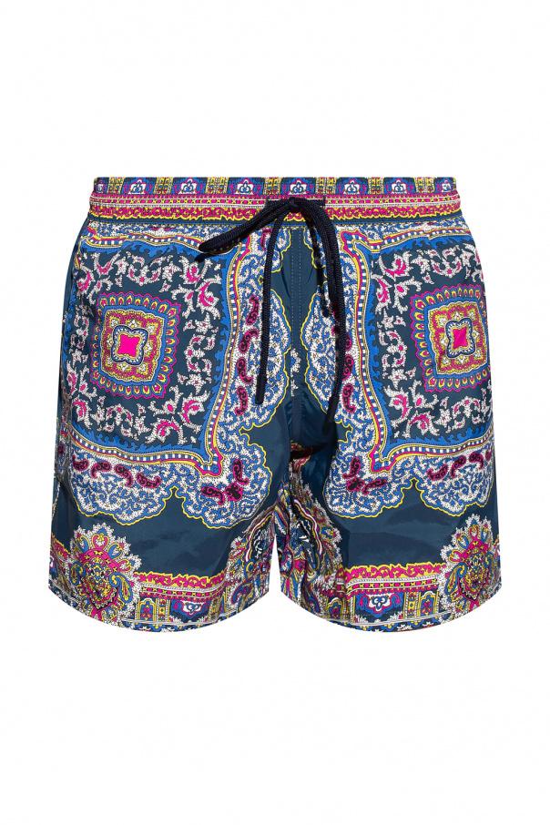 Etro Paisley-motif swim shorts