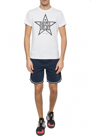 Logo-embroidered shorts od Diesel