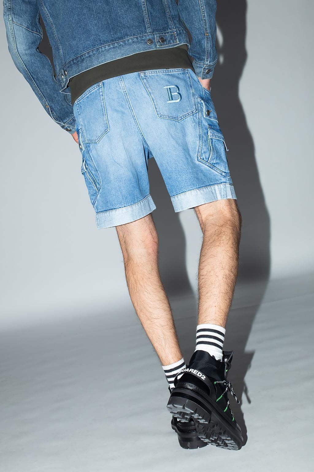 Balmain Denim shorts with pockets