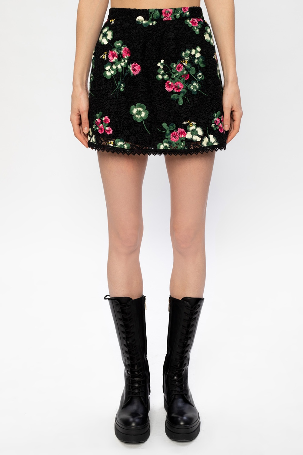 Red Valentino Shorts with pleat panel