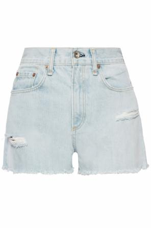 Denim shorts with rip od Rag & Bone