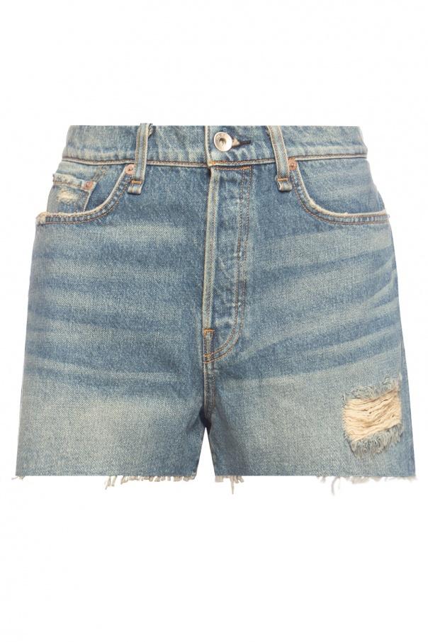 Rag & Bone  High-waisted denim shorts