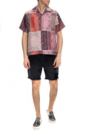 Denim shorts with pockets od Amiri