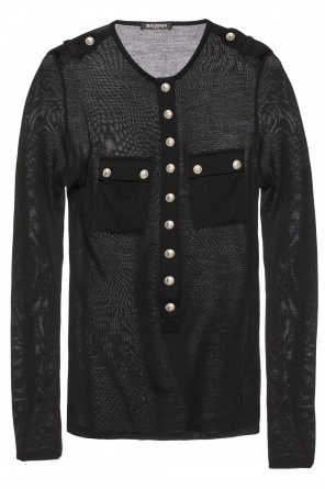 Sweater with decorative buttons od Balmain