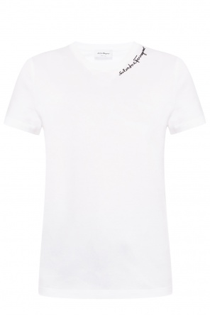 Logo-embroidered t-shirt od Salvatore Ferragamo