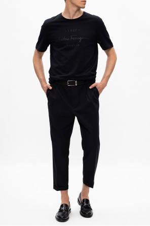 T-shirt with raised logo od Salvatore Ferragamo