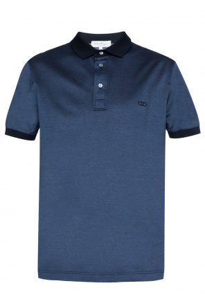 Logo-embroidered polo od Salvatore Ferragamo