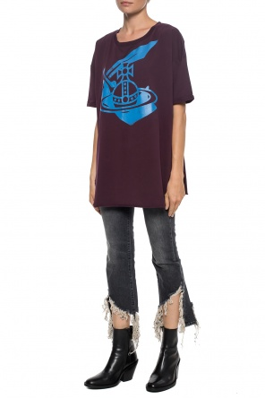 Asymmetrical t-shirt with a print od Vivienne Westwood