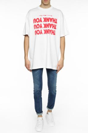 Inscription-printed t-shirt od Raf Simons