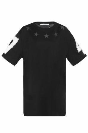 T-shirt with sheer inserts od Givenchy