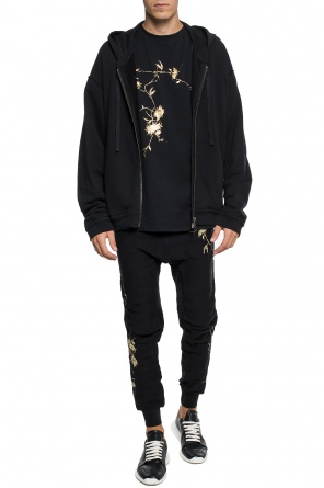 T-shirt with a floral motif od Haider Ackermann