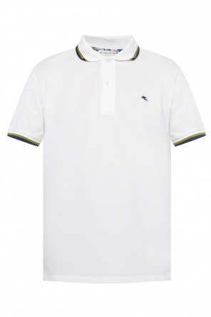 Logo-embroidered polo shirt od Etro