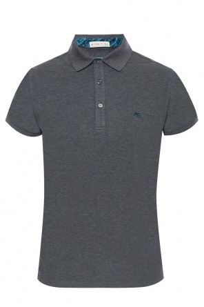 Polo with embroidered logo od Etro