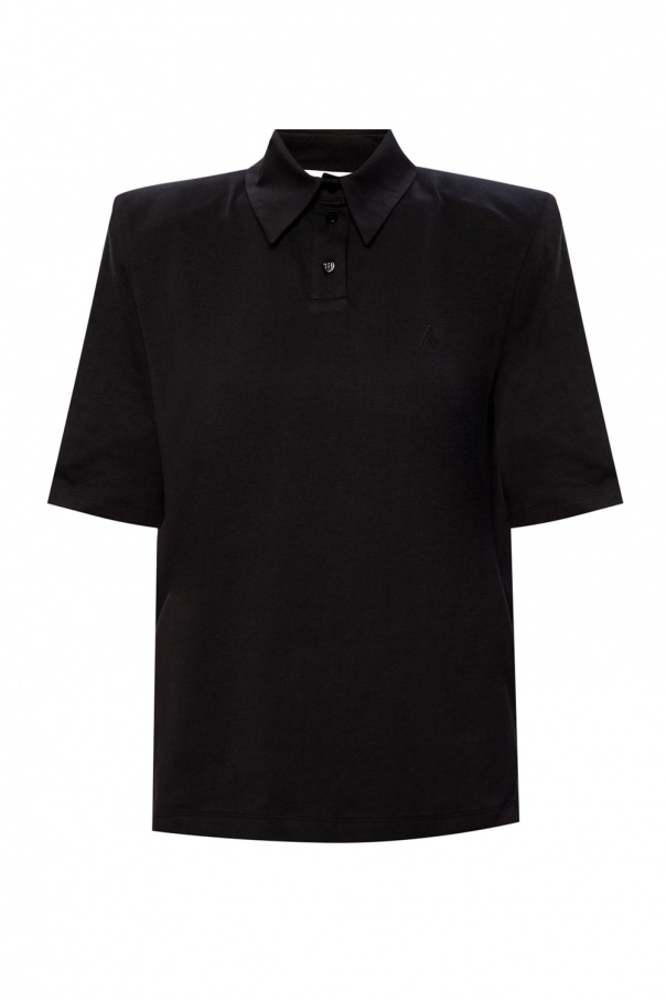 The Attico Polo shirt with padded shoulders