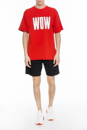 T-shirt with printed inscription od MSGM