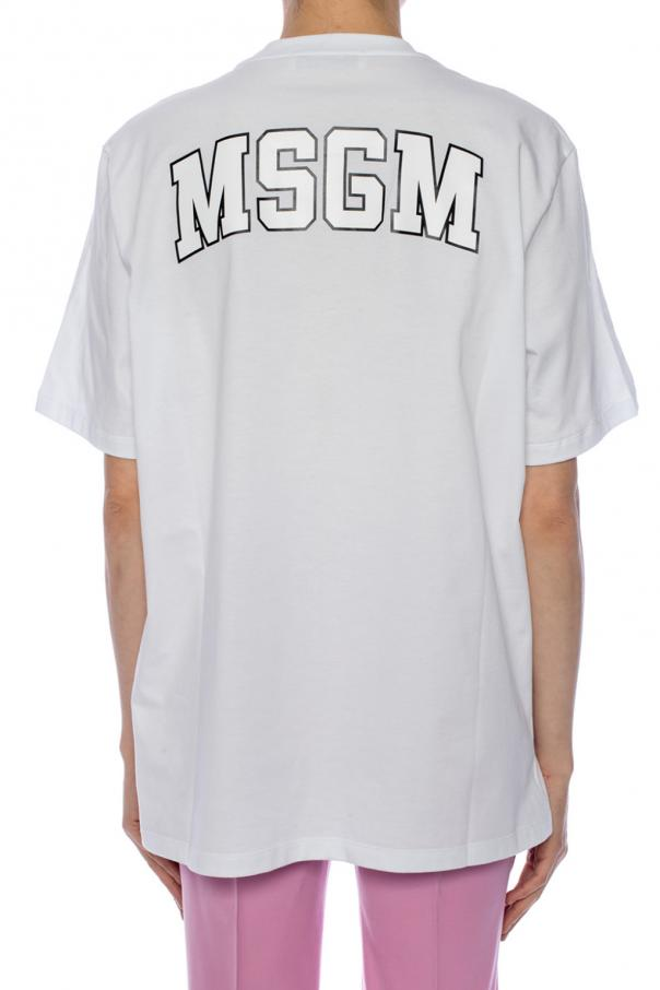 Logo-printed top od MSGM