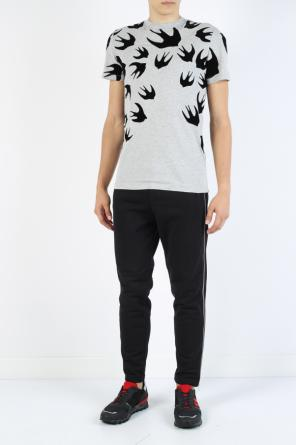 T-shirt with swallows od McQ Alexander McQueen