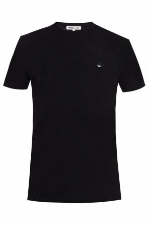 T-shirt with a swallow motif application od McQ Alexander McQueen