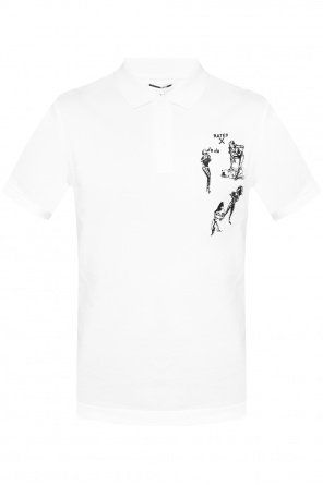 Embroidered polo od McQ Alexander McQueen