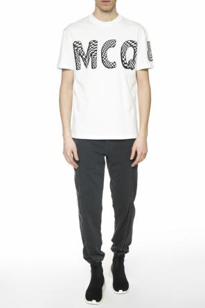 T-shirt with embroidered inscription od McQ Alexander McQueen